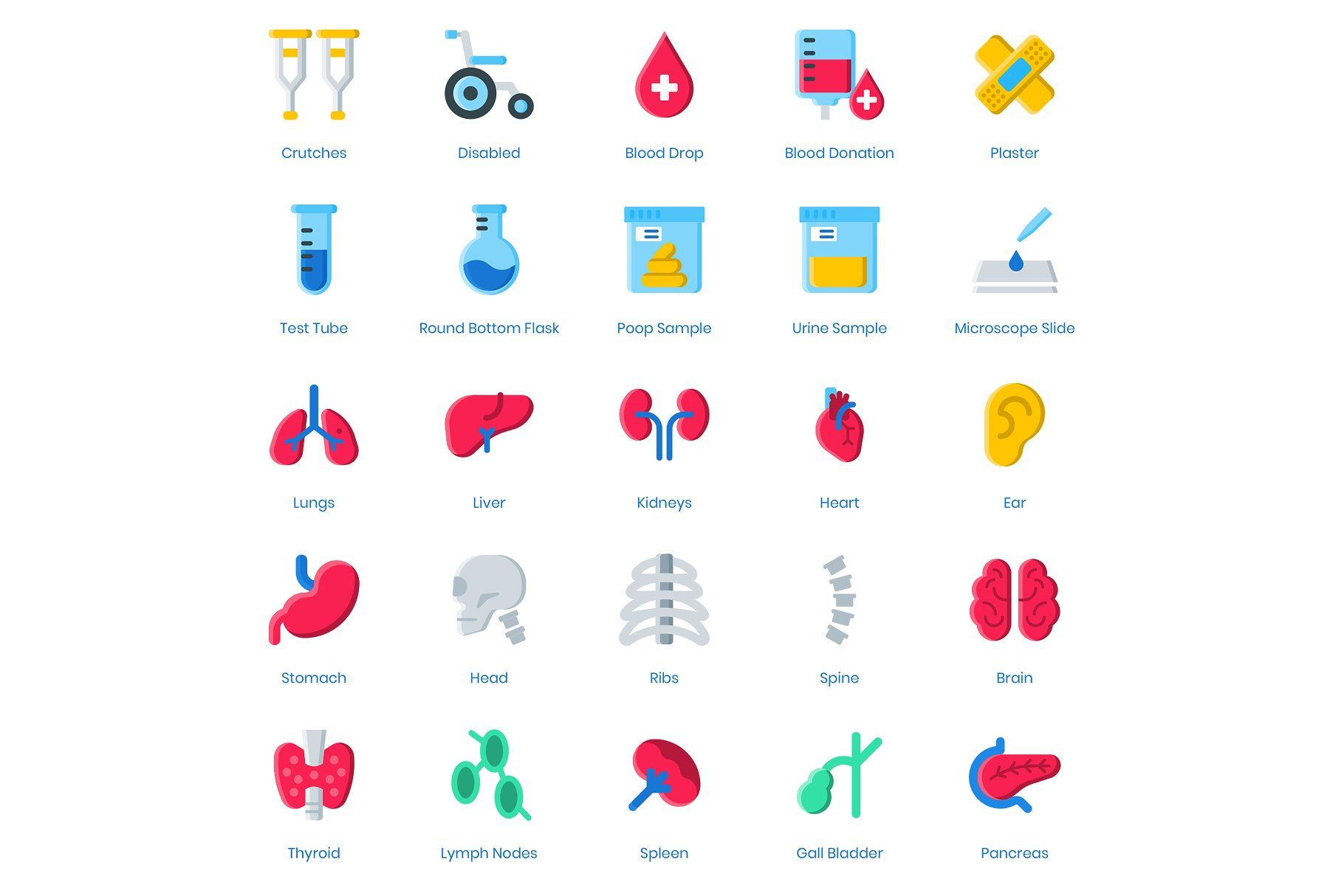 105 Medical Healthcare Icons Health Care Medical Fitness