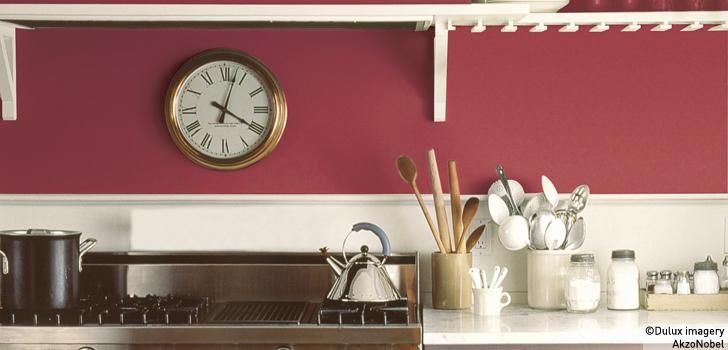 Kitchen Using Pink Raspberry Diva And Mellow Mocha Country