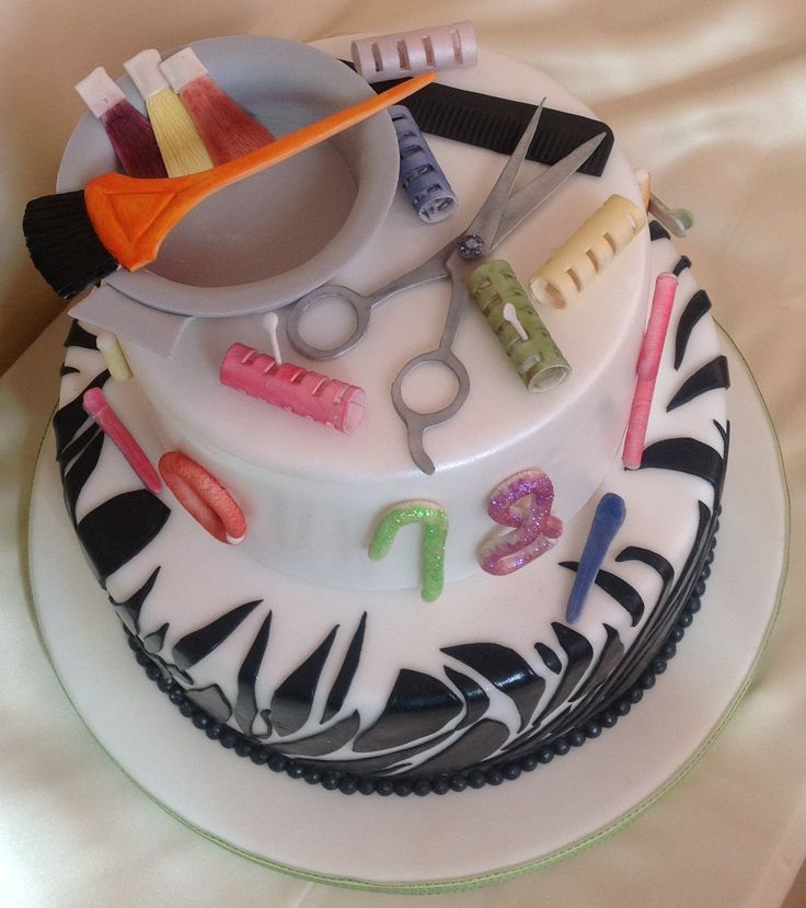 Hair Themed Cakes Hairdresser Cakehy Birthday