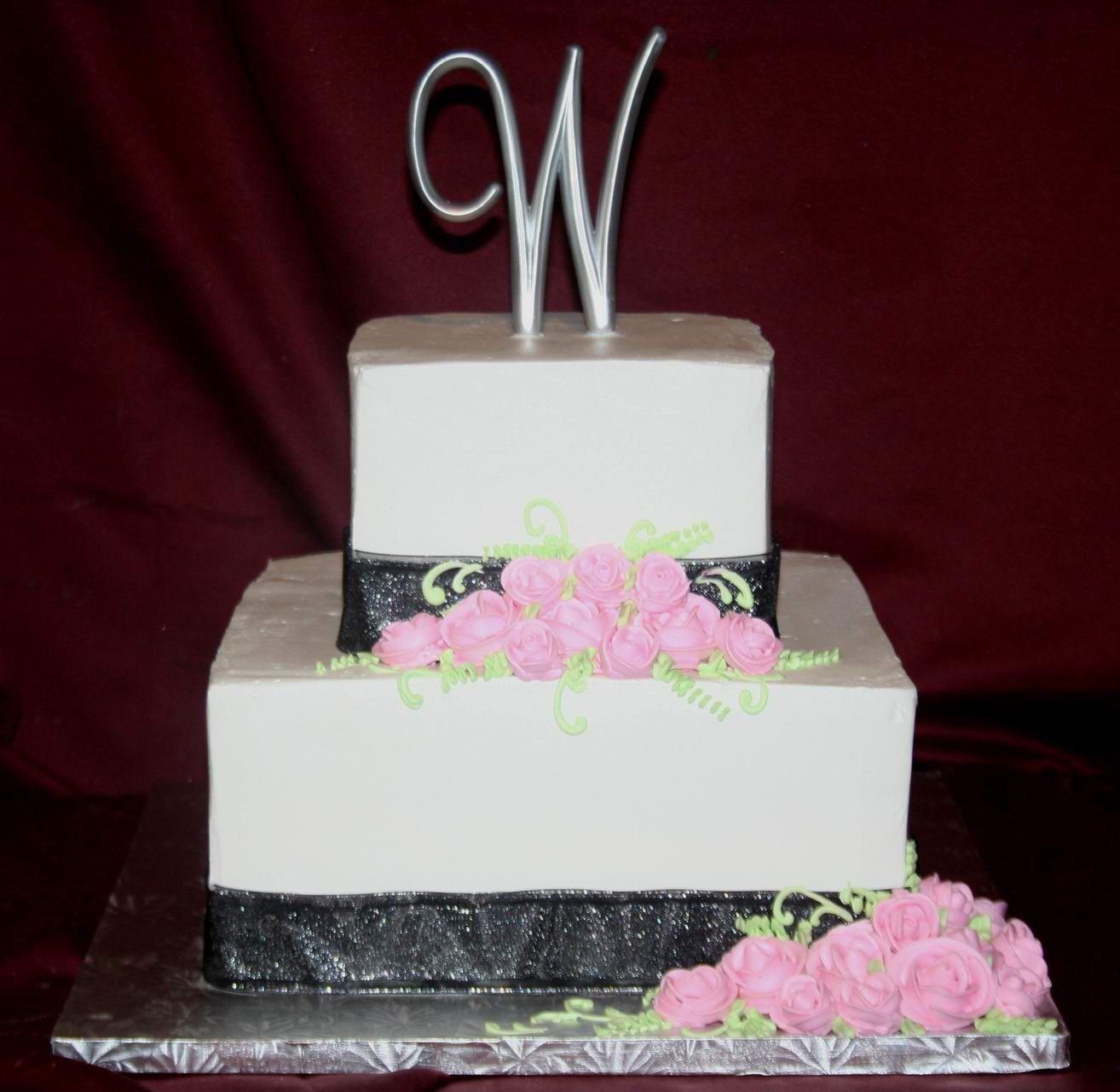 Lovely 3 Tier Buttercream Wedding Cake Mariannewhite: Lovely 3 Tier Square Wedding Cake