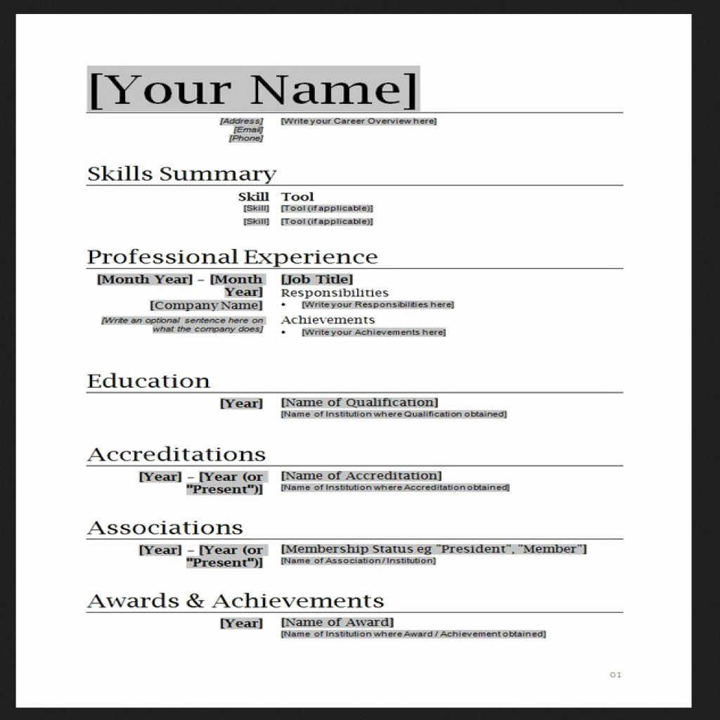 Downloadable Resume Templates Word Beautiful Job Resume