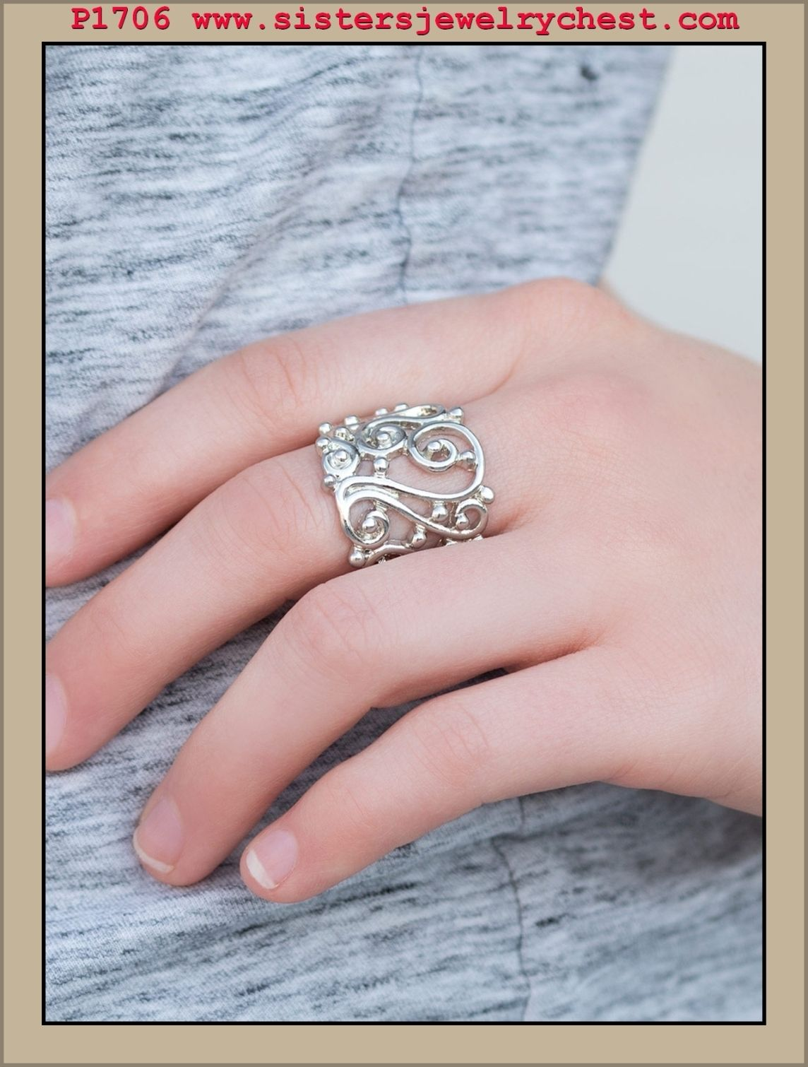 REGAL Advice - Silver - Paparazzi Accessories | Filigree and Ring