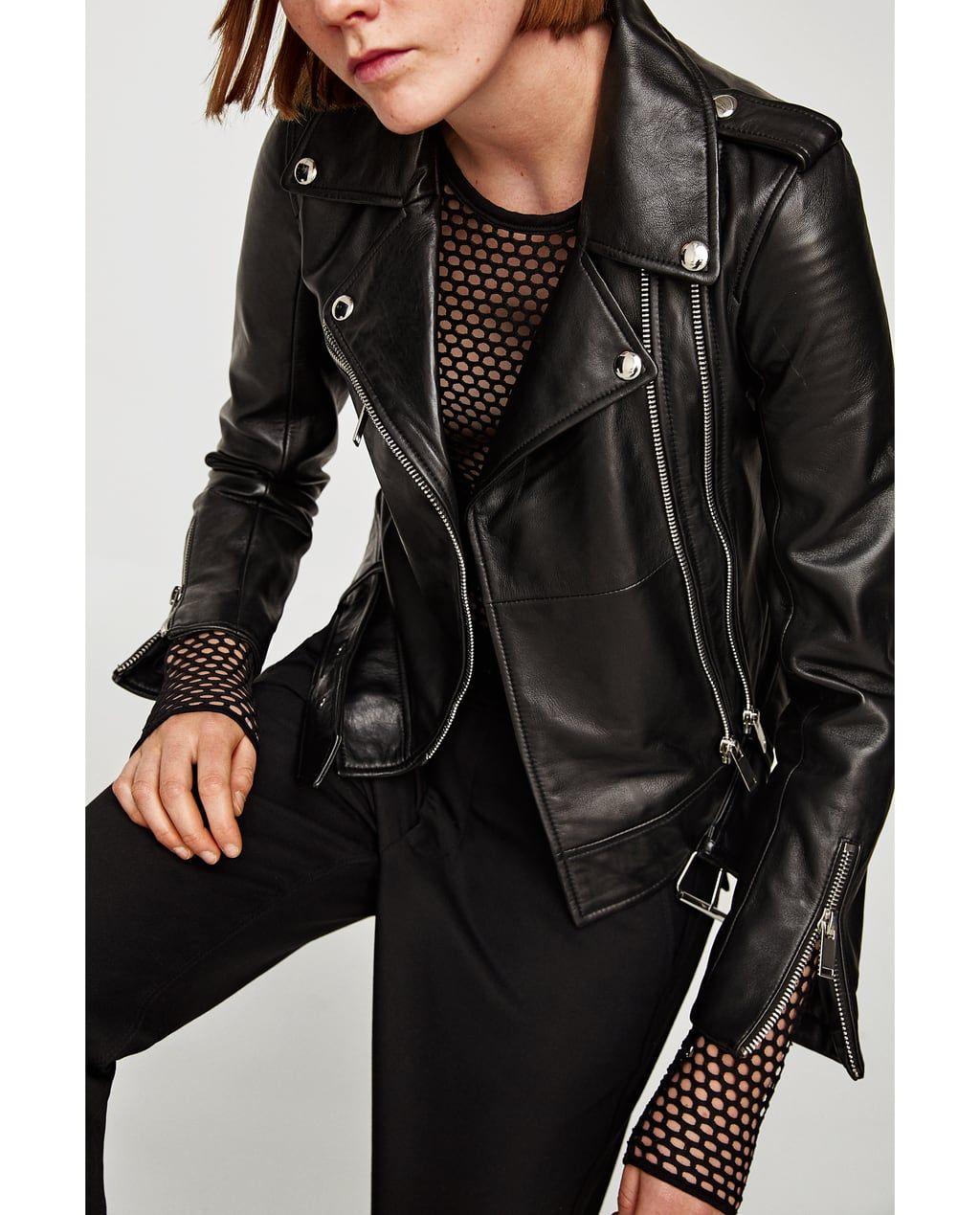 Leather Biker Jacket Jackets Woman Zara United States Biker Jacket Clothes Jackets [ 1269 x 1024 Pixel ]