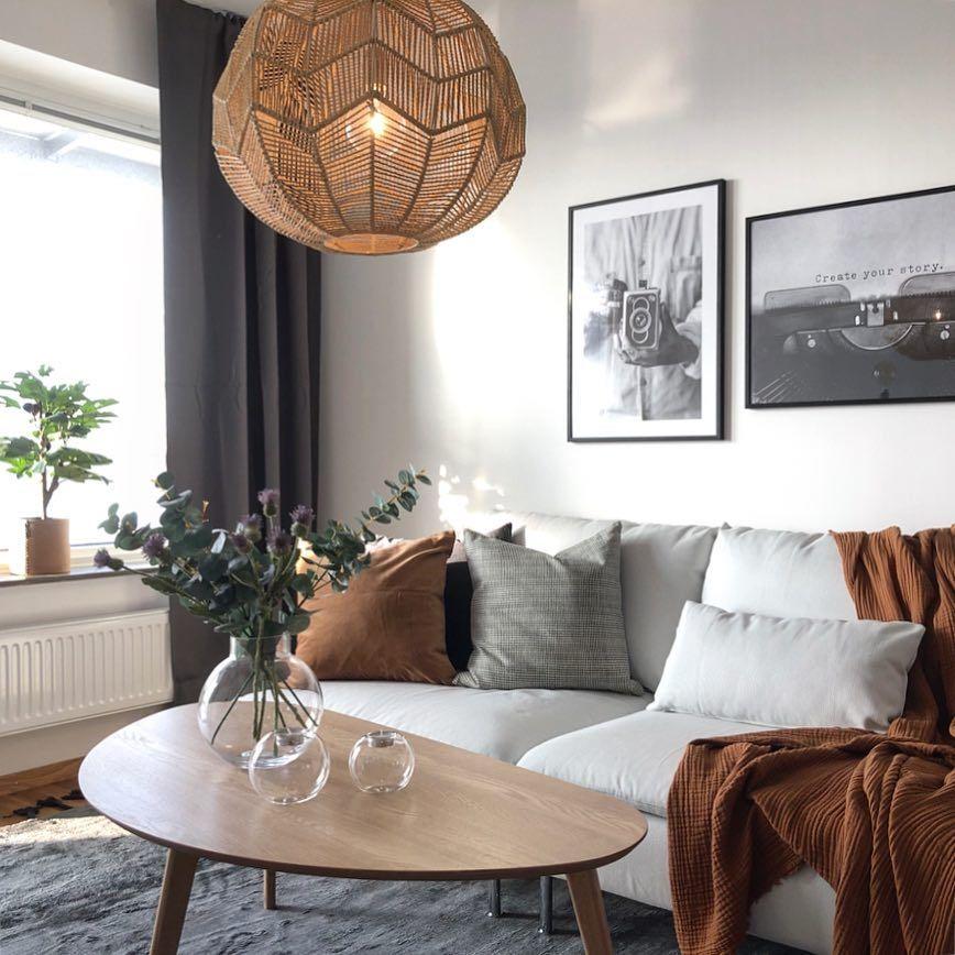 Boho decor #smallapartmentlivingroom