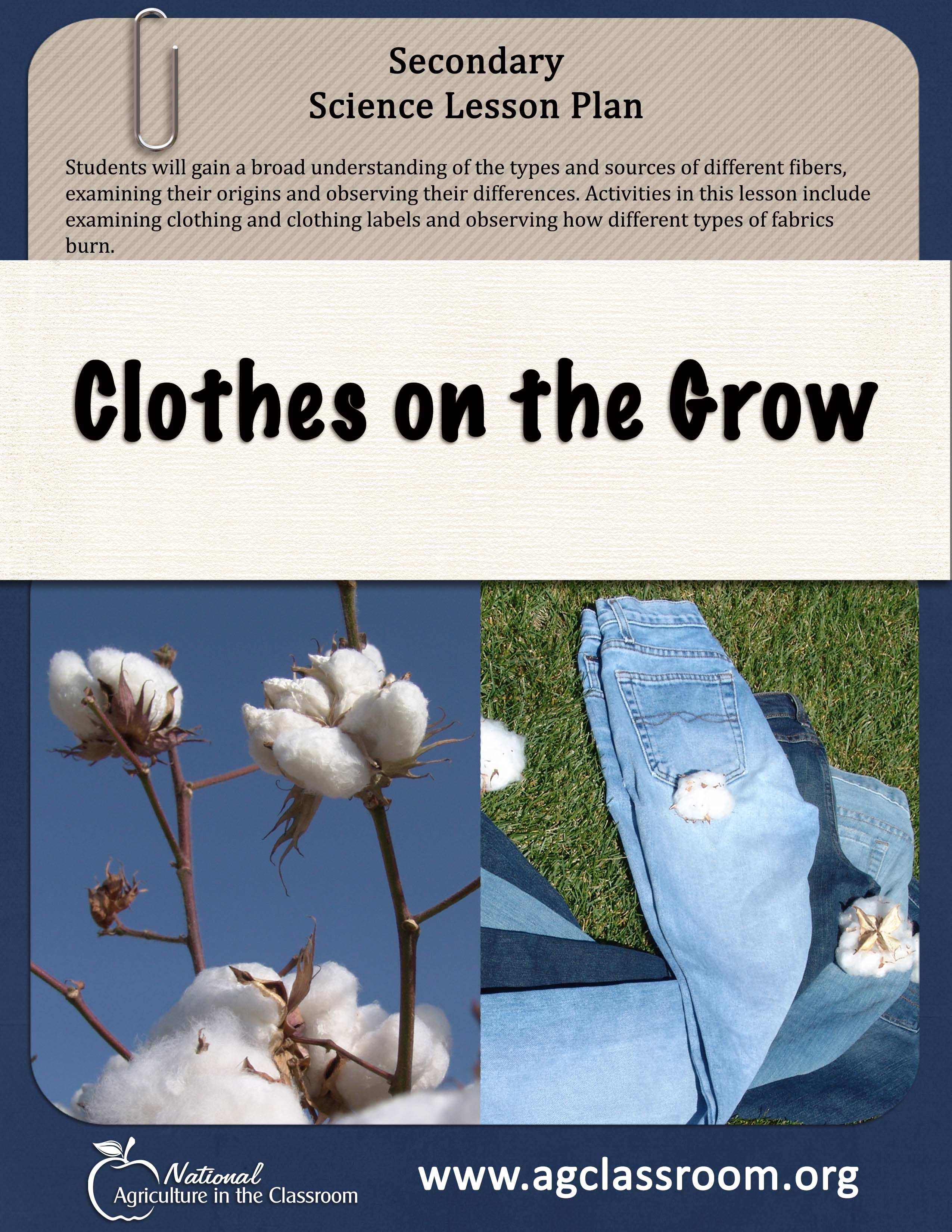 Science Lesson Plan About Fabric And Textiles Learn The