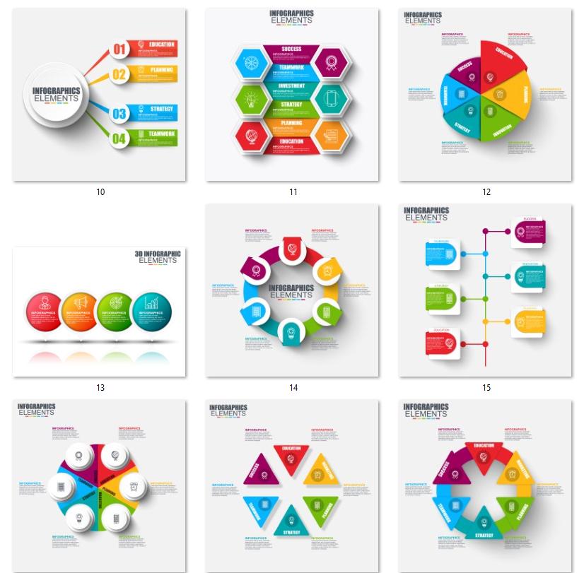 حزمة قوالب انفوجرافيك Free Graphic Design Silhouette Template Graphic Design