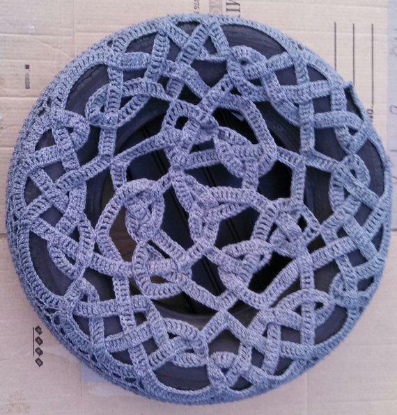 Celtic Knot Crochet Spare Tire Cover | Clever Ideas / DIY | Pinterest