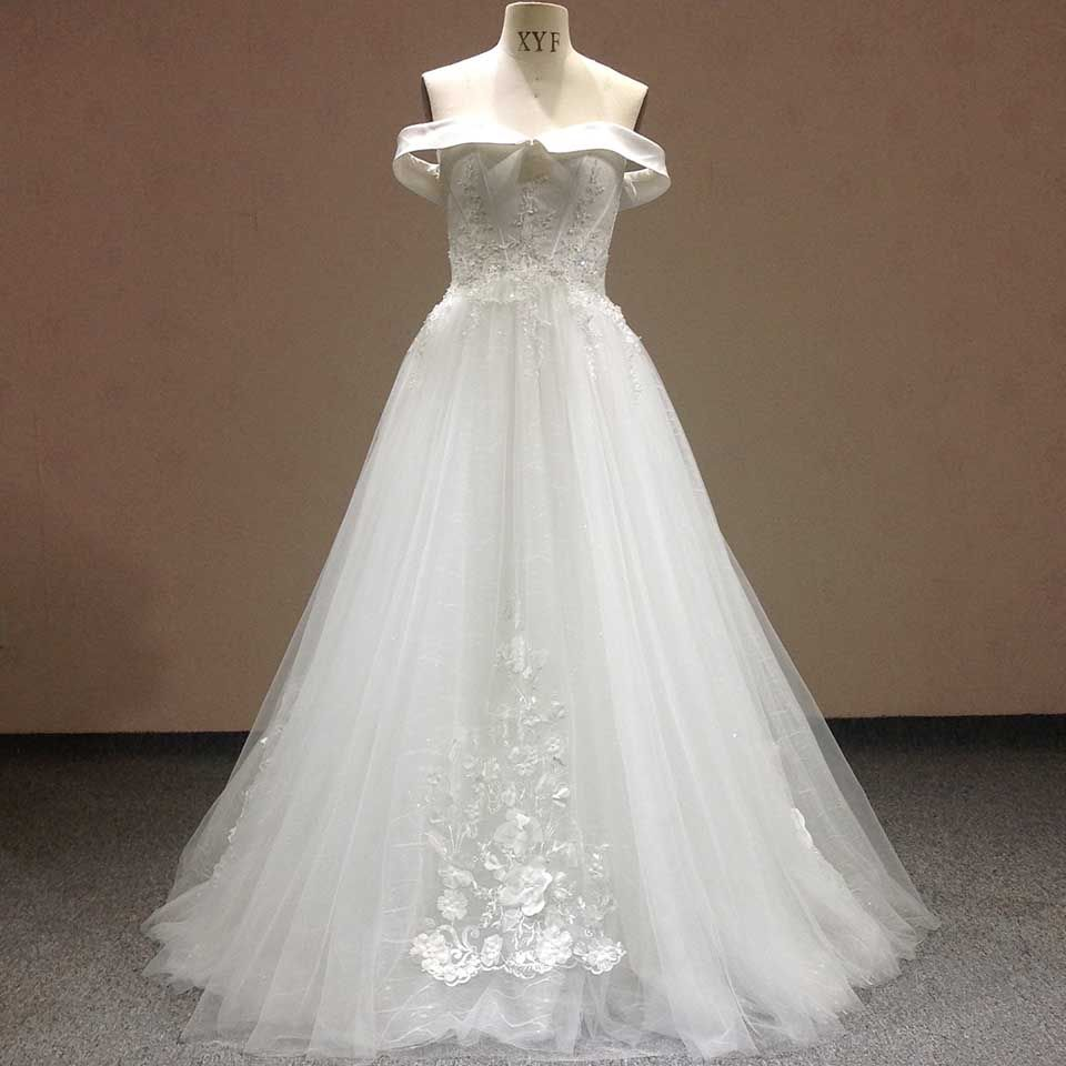 Find More Wedding Dresses Information about 2016 New Arrival Boat Neck Appliques…
