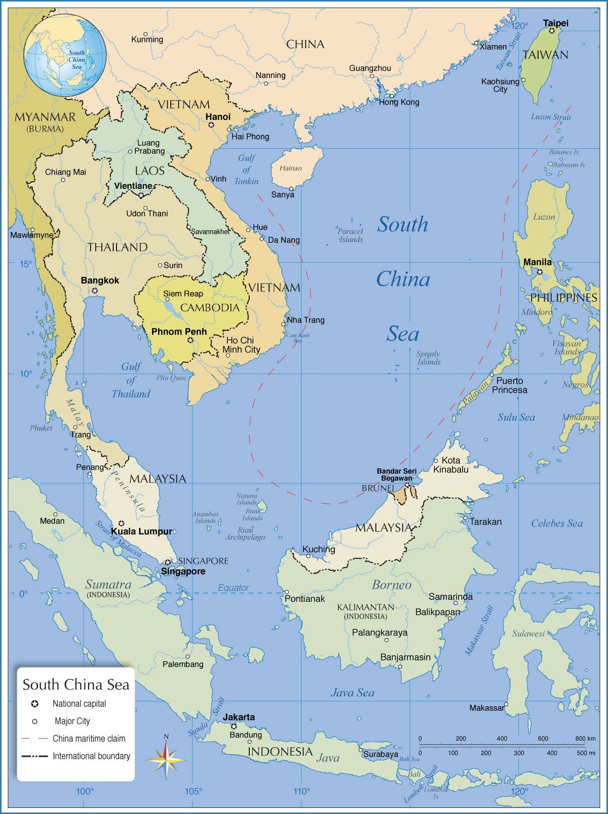 Map of South China Sea | Asian maps in 2019 | Map, World map ... China Philippines Map on