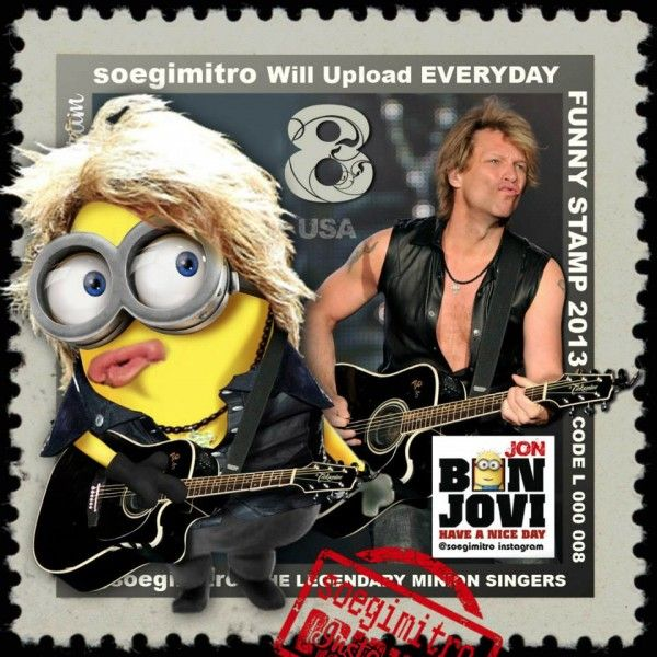Jon Bon Jovi Minion See my Despicable Me Minions pins https – Bon Jovi Birthday Card