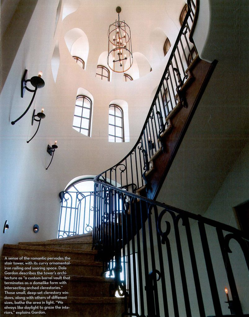 3 Home Decor Trends For Spring Brittany Stager: Stair Tower With Arched Recessed Windows