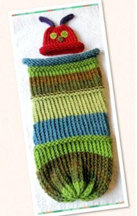 Caterpillar Cocoon & Hat | Gestricktes baby, Babys und Stricken