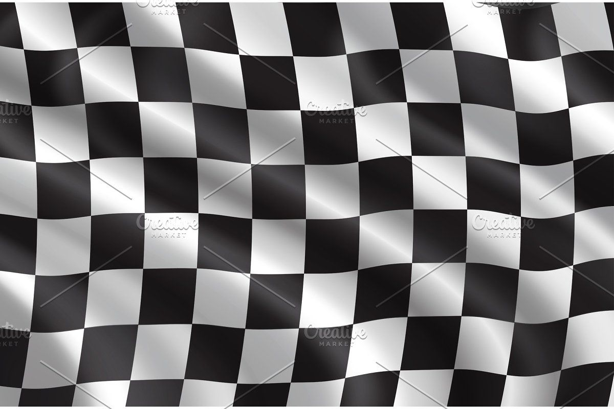 Vector Checkered Flag Pattern In 2020 Checkered Flag Checkered Checkered Pattern