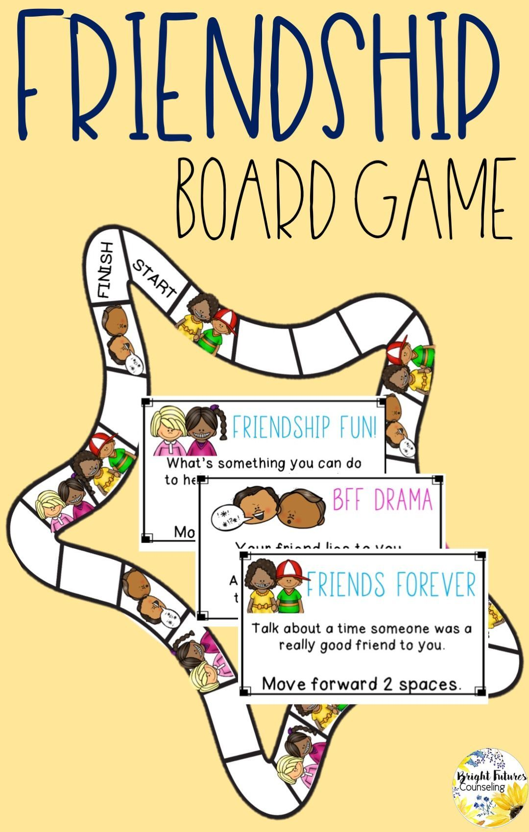 Friendship Board Game School Counseling Game School