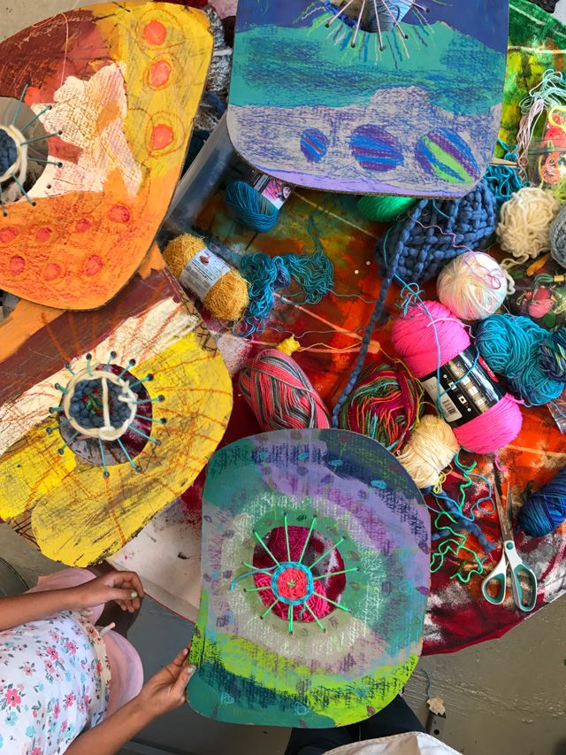 Circle Weaving Art Project for Elementary Students