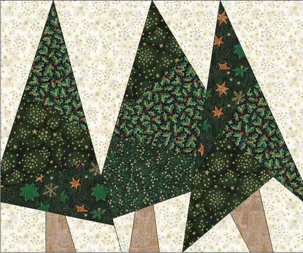 Paper Pieced Christmas Tree Pattern: Wonky Trees.................LOVE!