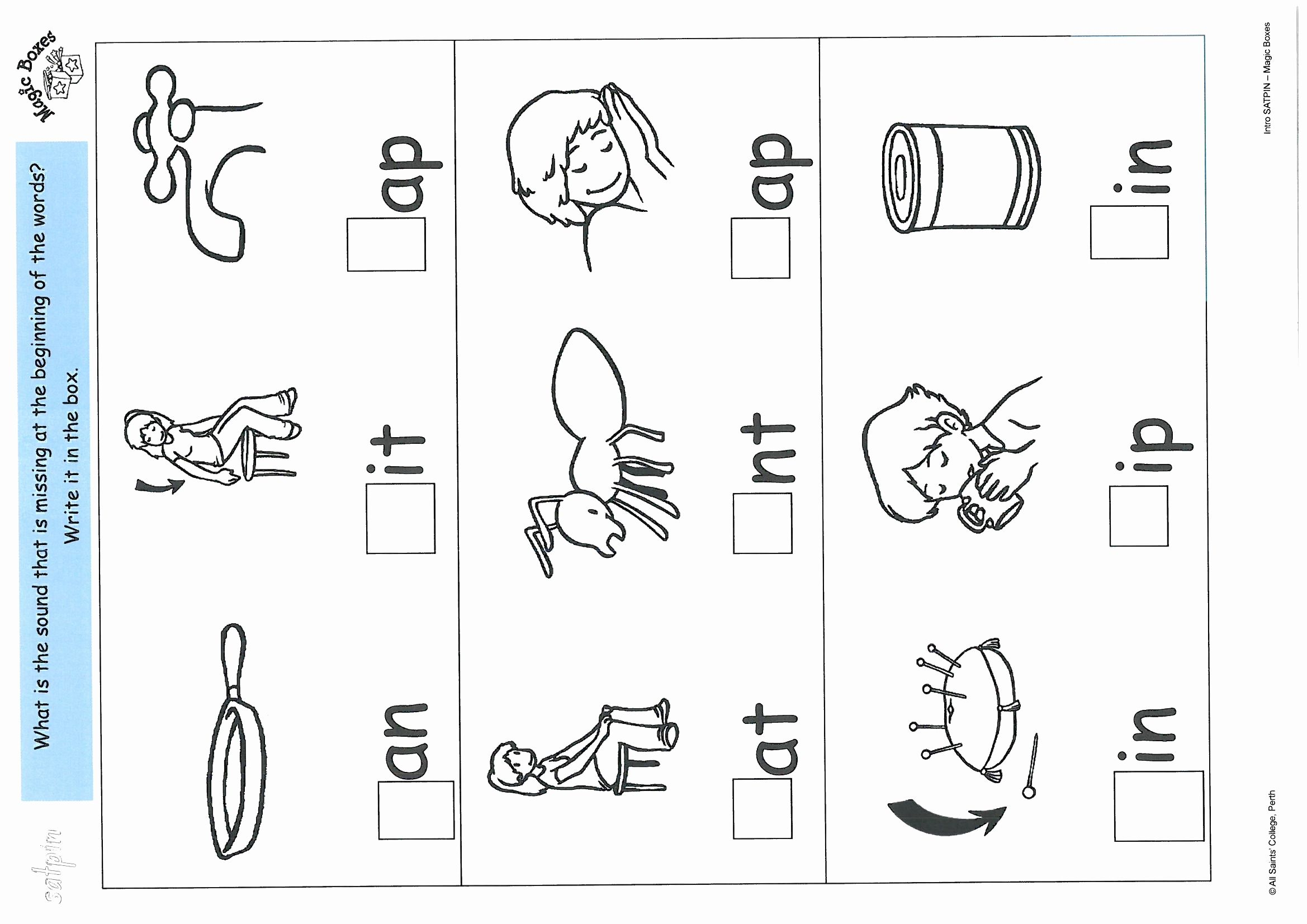 Phonics Satpin Worksheets Learning How To Read