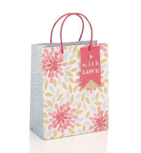 Floral Print Medium Gift Bag - Marks & Spencer