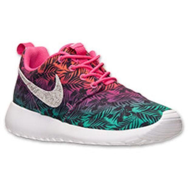 c8494553421c Girls  Grade School Nike Roshe Run Print Casual Shoes