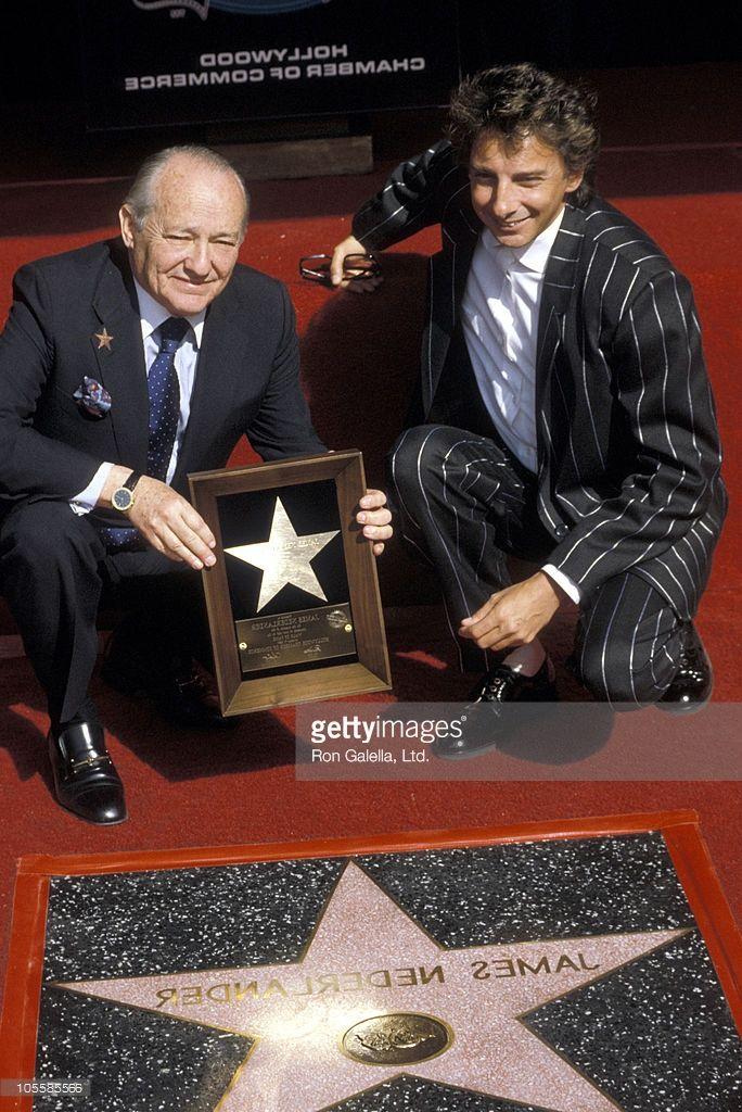 James Nederlander and Barry Manilow during Hollywood Walk of Fame ...