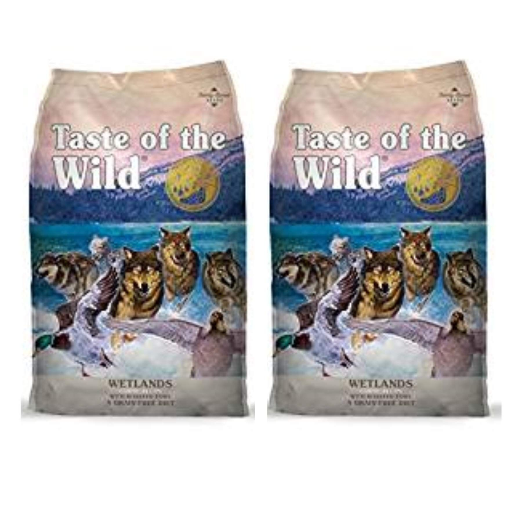 Taste Of The Wild 2 Pack Wetlands Formula Dry Dog Food Roasted