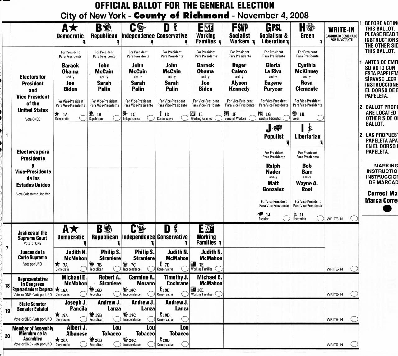 Sample Ballot Template. elections canada online canada at the ...