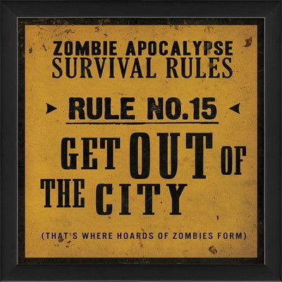 The Artwork Factory Survival Rule No15 Framed Textual Art