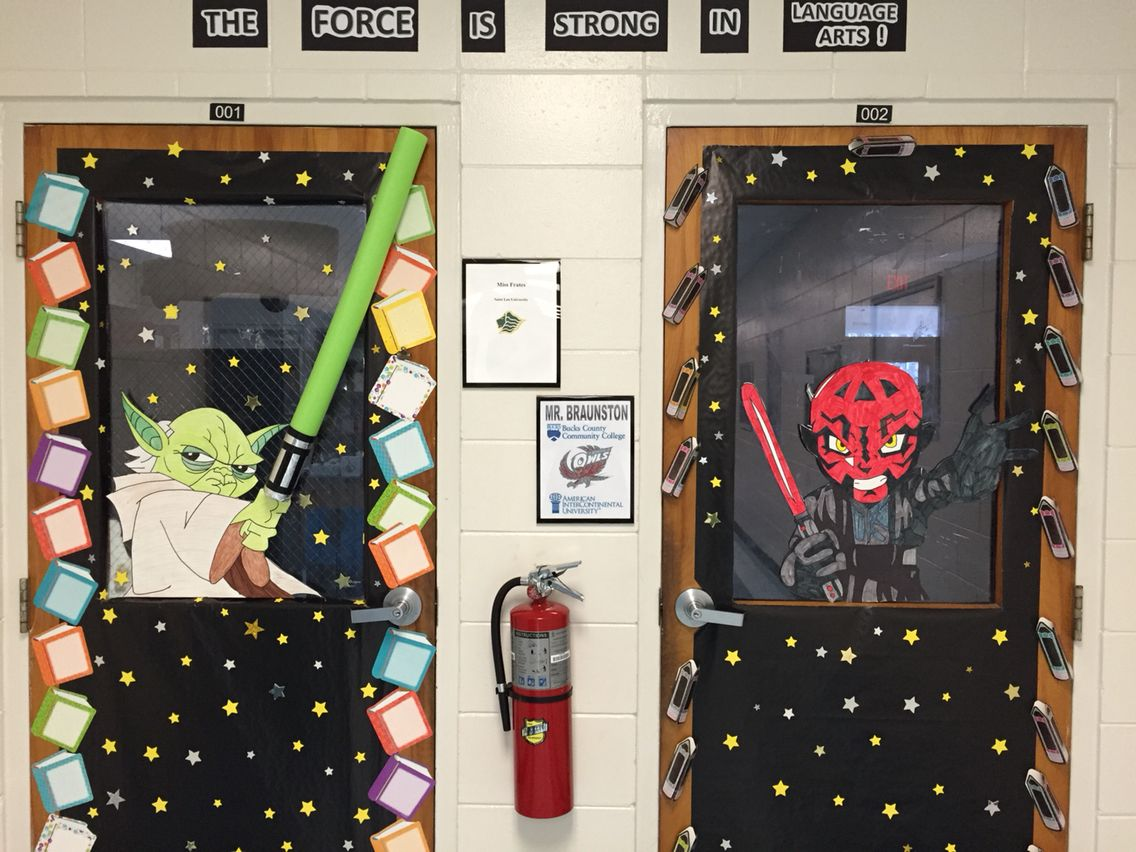 Star Wars Themed Doors For Our Sixth Grade Language Arts