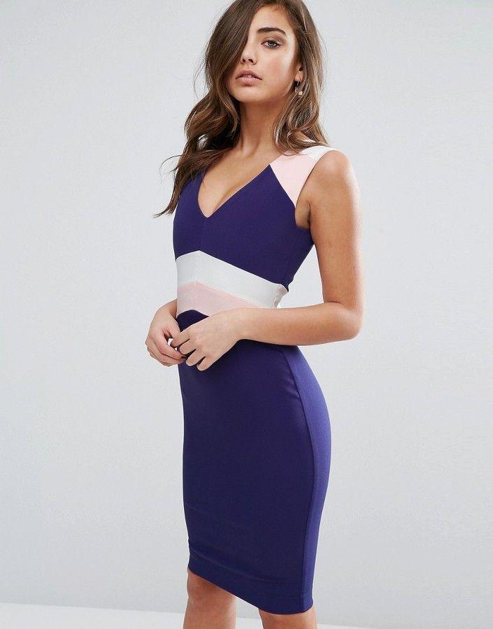 0933be9e2f Vesper Color Block Pencil Dress