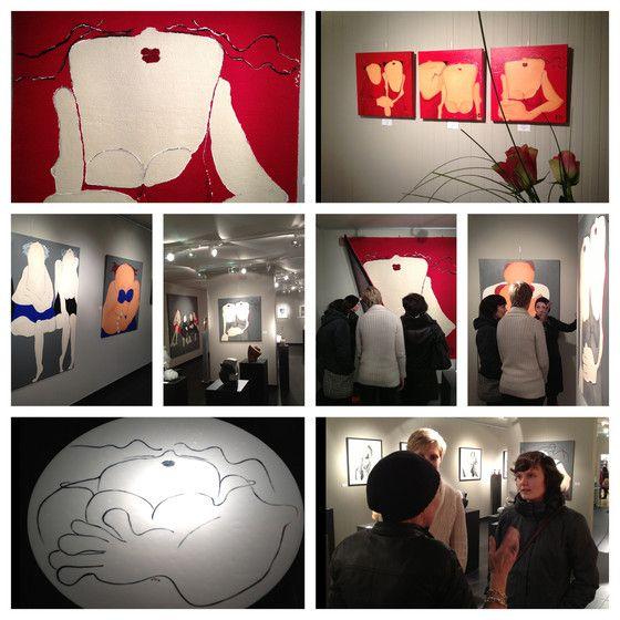 "Mieke Drossaert 2013 exposition @ art gallery ""in-connu""."