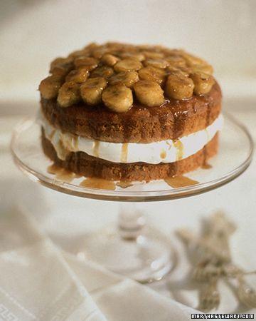 Banana Bourbon Layer Cake