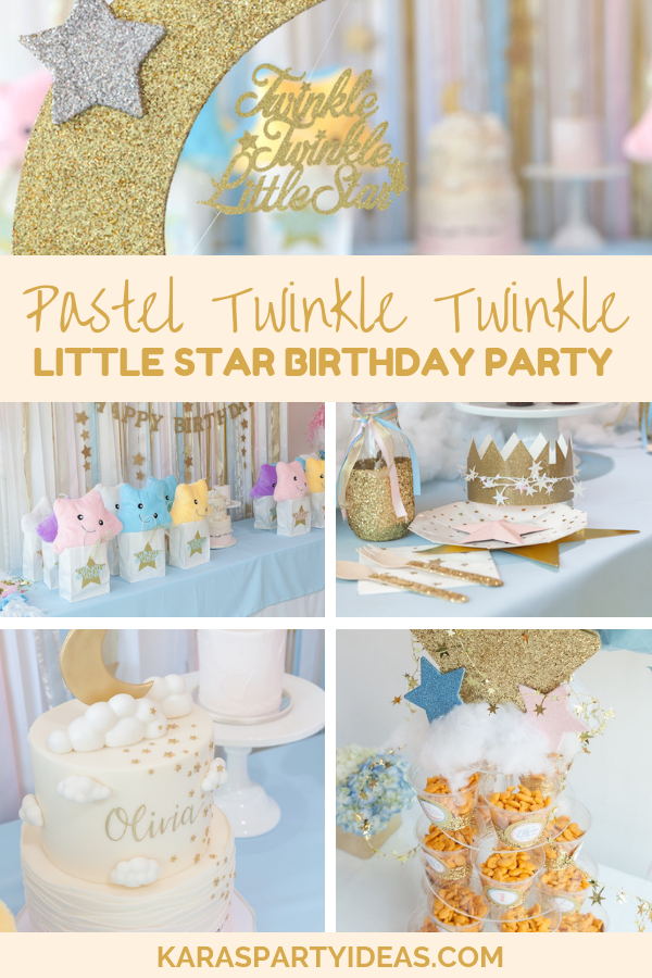 Gold Glitter Stars Birthday Little Star Birthday Party Package Printable File Twinkle Twinkle Party Package Stars Birthday Party Package