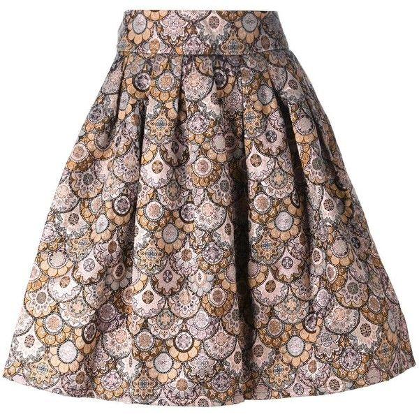 Leo 'Skater' skirt (16165 RSD) ❤ liked on Polyvore featuring skirts, grey, gray skirt, metallic skater skirt, metallic skirt, flared skirt and skater skirts