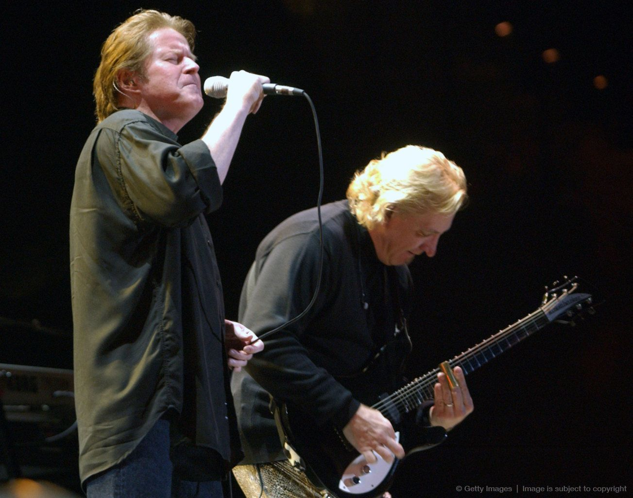 Photo of Don Henley & his friend musician  Joe Walsh - Eagles
