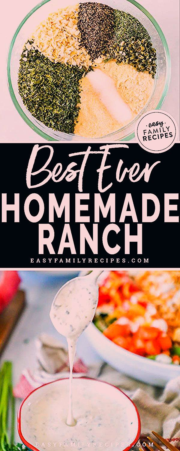 YES! This is the BEST Homemade RANCH DRESSING! I will never buy the bottled stuff again because this has spoiled me forever. If you love ranch dressing you need this recipe. Try this Ranch Dressing on salads, sandwiches, for dipping veggies, or even drizzled over meat. It is the best condiment we have in our fridge! Plus, it is naturally gluten free, low carb, and keto friendly! #ranch #saladdressing #homemade #keto #lowcarb #lchf #glutenfree #stufftobuy