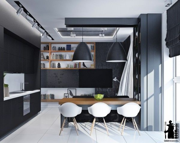 Artistic Apartments with Monochromatic Color Schemes | Monochrome ...