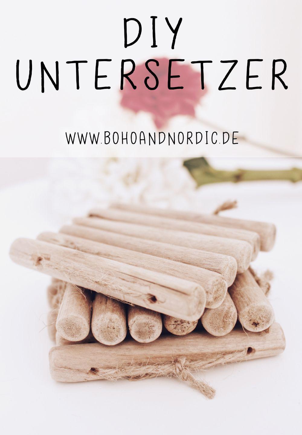 DIY Untersetzer Aus Holz Selber Machen. Bastelidee Mit Holz. Kreative Und  Einfache DIY Idee