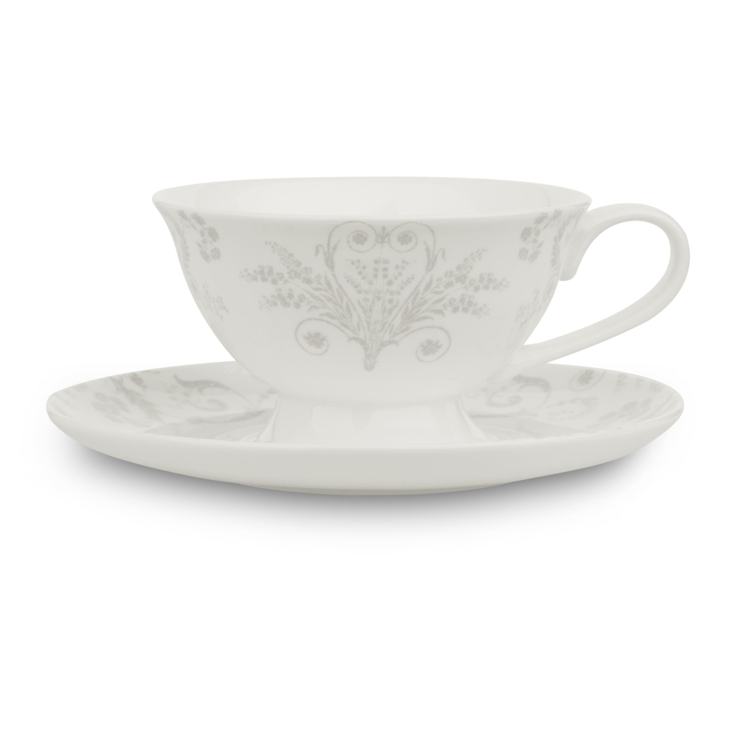 Josette Dove Grey China Cup And Saucer At Laura Ashley