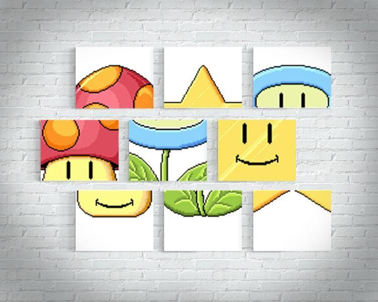 Mario Match Game Wall Art | Chambre Jules | Pinterest | Gaming ...