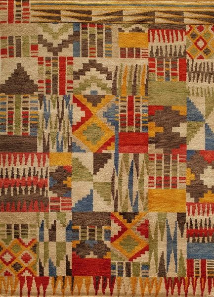 Material: Hand Knotted 100% Wool Inspired by the Southwest, African and Latin American cultures, Madagascar is on point with its vibrant color palette and edgy patterns. This collection is a natural r