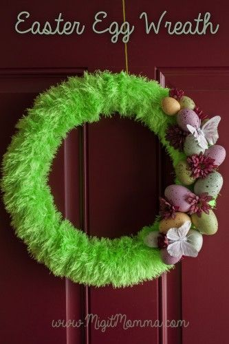 Do it yourself easter egg wreath easter wreaths and egg do it yourself easter egg wreath solutioingenieria Image collections