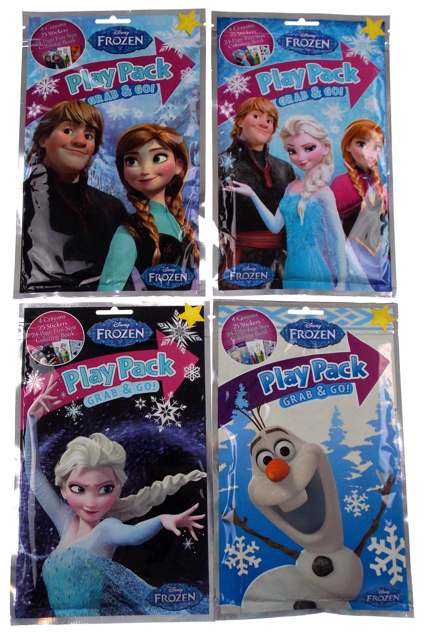 Lot 12 Disney Frozen Play Pack Grab Go Coloring Book Crayons Stickers Favors