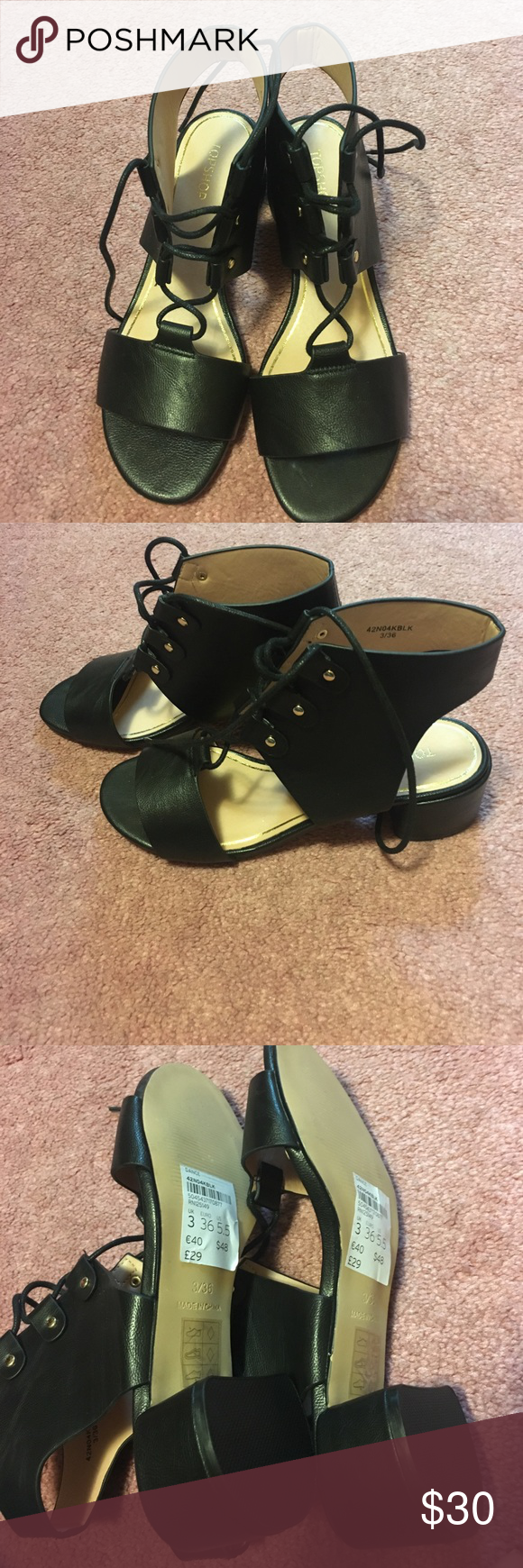 Brand new top shop sandals Brand new TopShop sandals!! Looks great dress down or up. Topshop Shoes