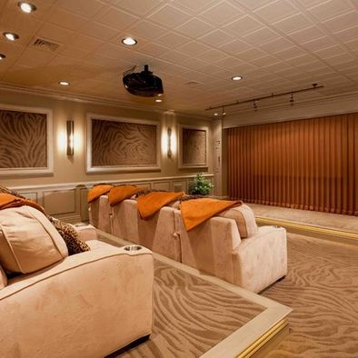 Charmant Basement Remodel Turns The Space Into A Lavish Home Theater [Design: Custer Design  Group]