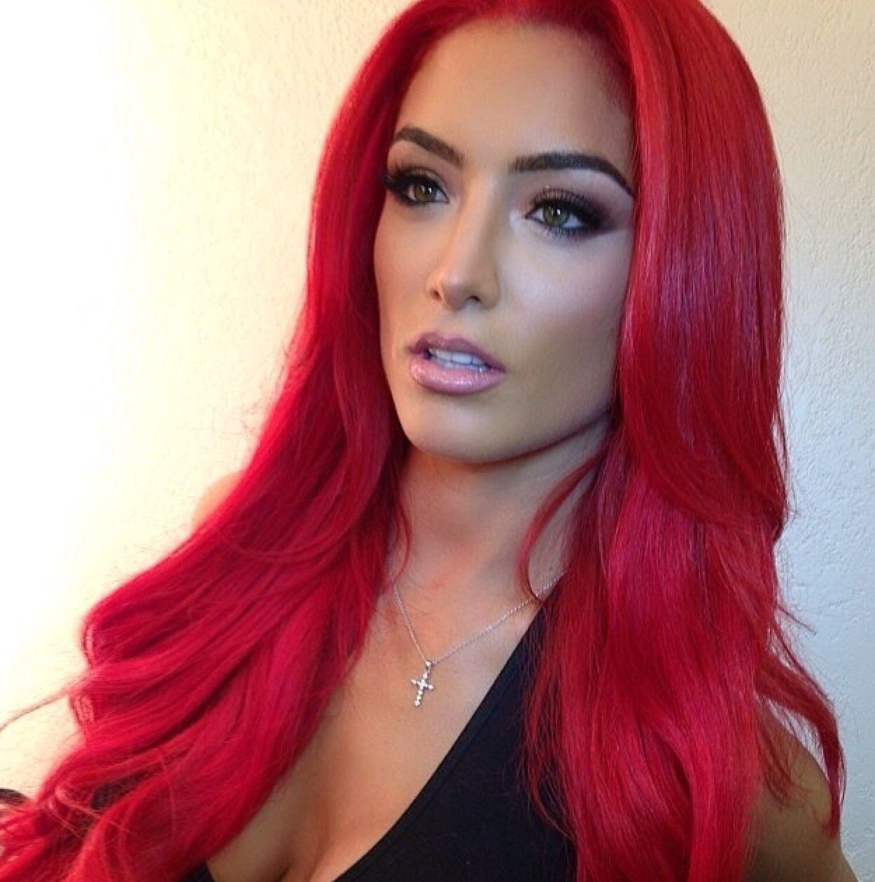 red hair love wwe diva eva
