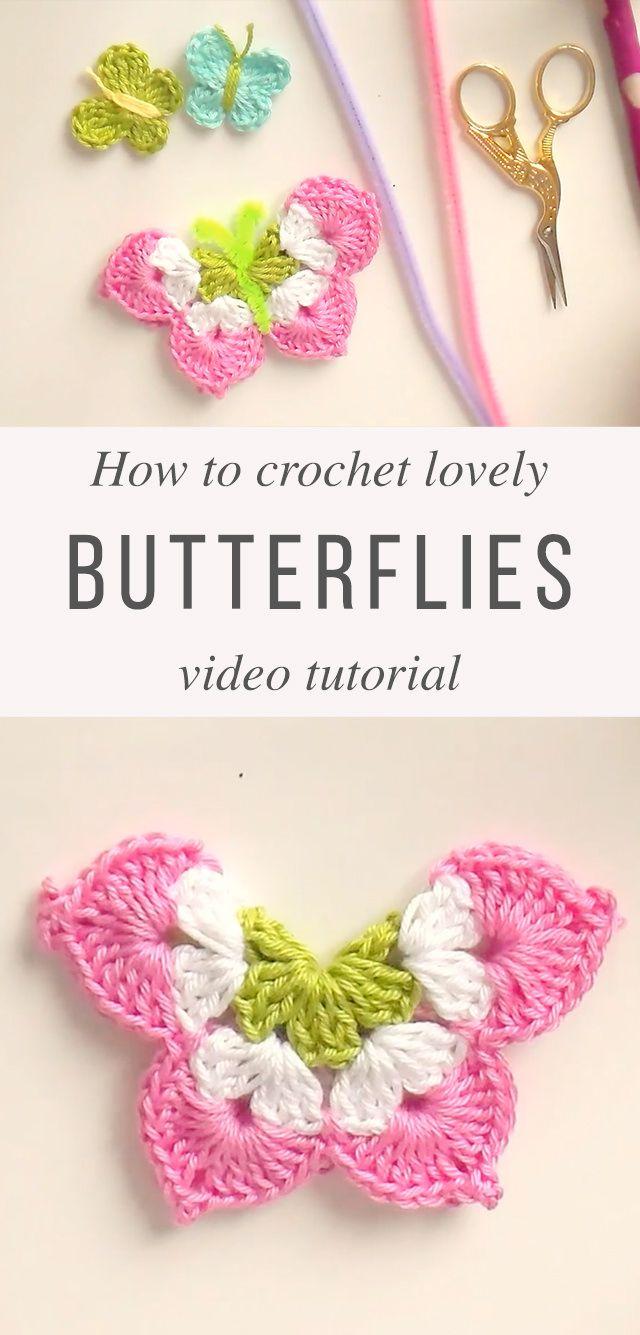 Crochet Butterflies Free Pattern Video Tutorial