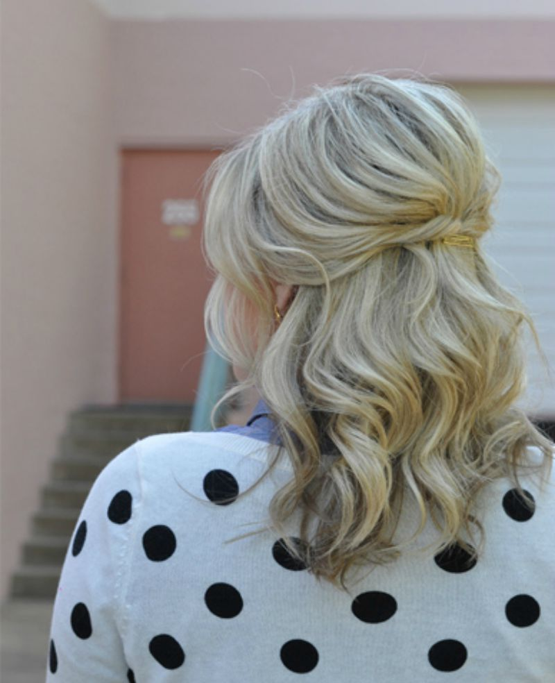 25 gorgeous half-up, half-down hairstyles   small things blog