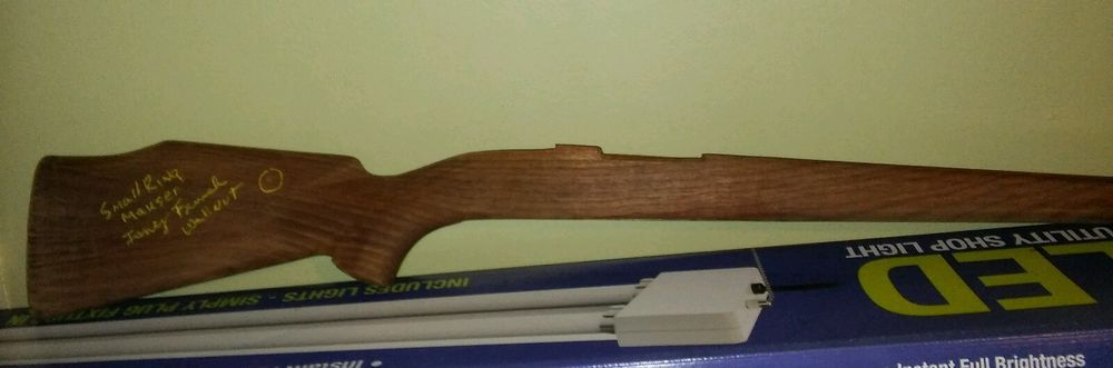 Fancy French Walnut semi inletted gun stock small ring