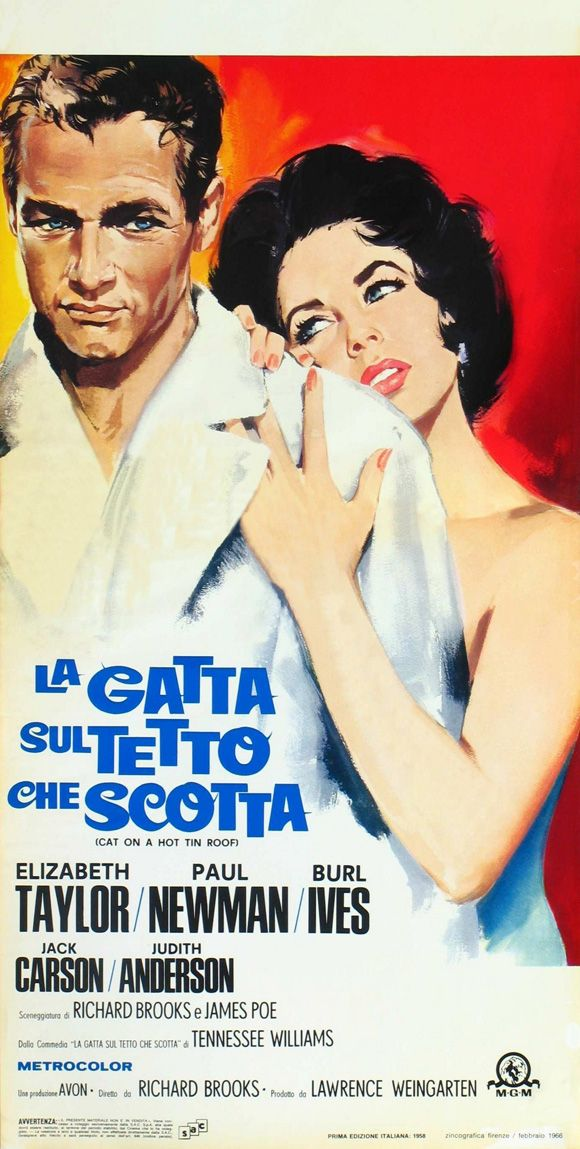 Cat On A Hot Tin Roof Italian Movie Poster