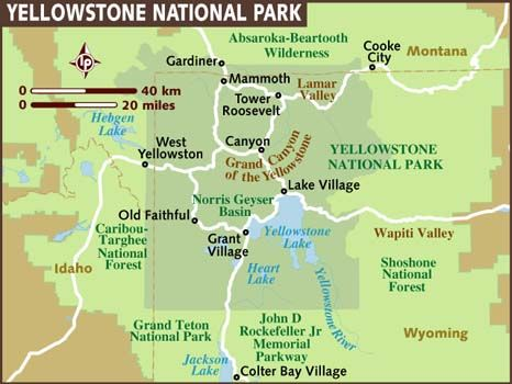 Yellowstone National Park | Yellowstone map, Yellowstone ...